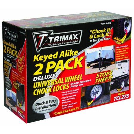Trimax Wheel Chock Lock 2-Pack 14