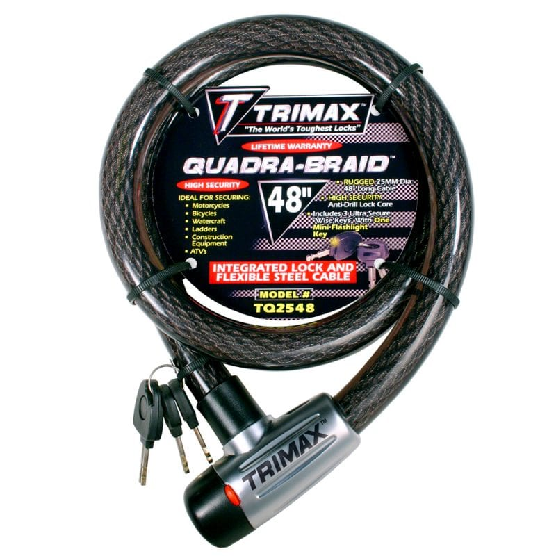 Trimax Trimaflex Integrated Keyed Cable Lock 48L X 25Mm