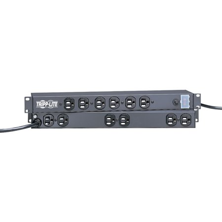 TRIPP LITE RS-1215 12-Outlet, 15-Amp 1U Rack-Mount Power Strip