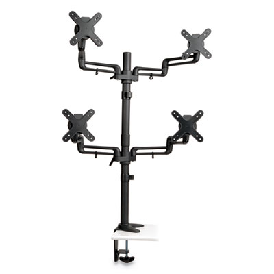 "Quad Full Motion Flex Arm Desk Clamp, For 13"" to 27"" Monitors, Up to 22 lbs/Arm"