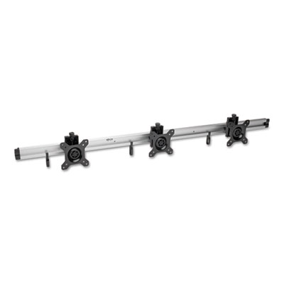"""Wall Mount, 3 Monitor, 10"""" to 15"""", up to 18 lbs., Silver"""