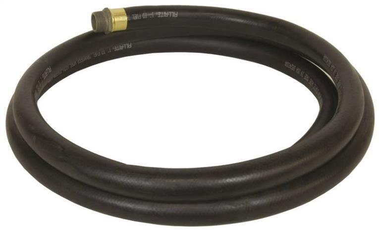 Fill-Rite FRH10014 Fuel Transfer Hose with Static Wire, Spring Guards, 1 in x 14 ft, NPT, 50 psi