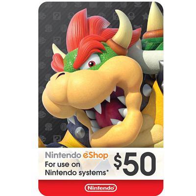 Nintendo eShop Card 50 Dollar
