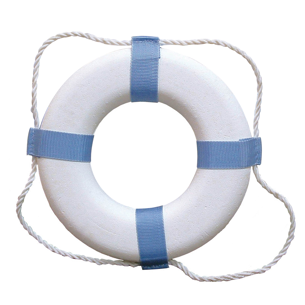 25IN WHITE DECORATIVE RING BUOY