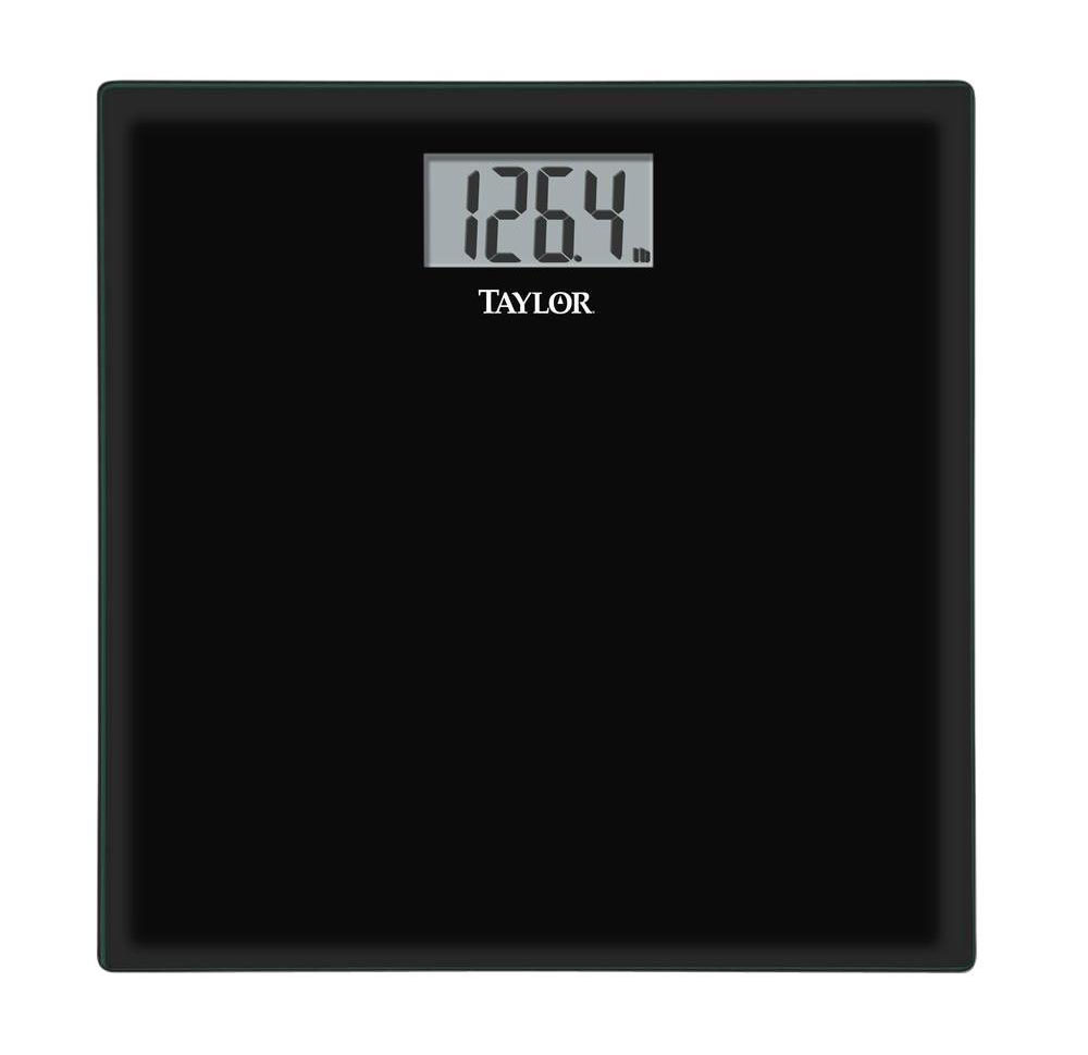 Glass Digital Scale Black