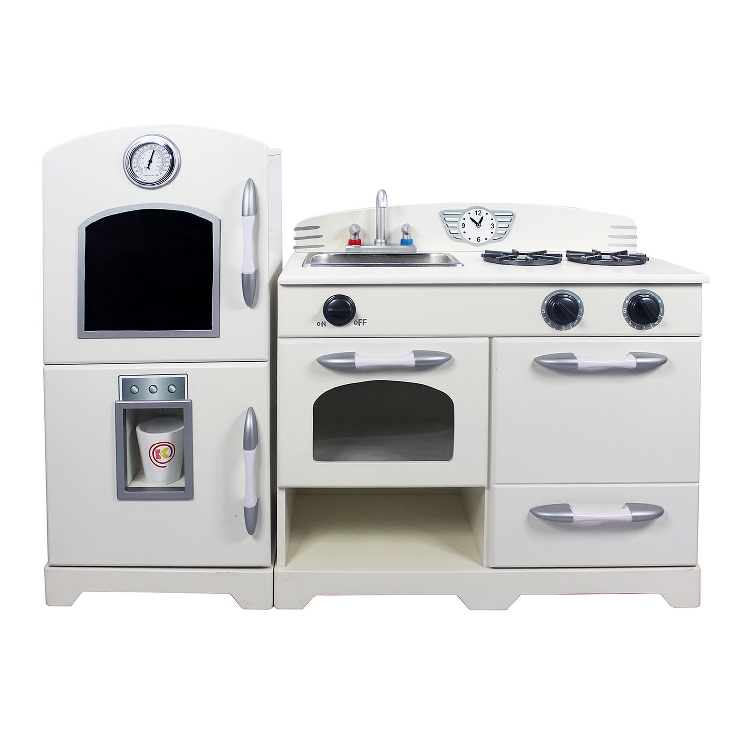 Teamson Kids Children Nursery White Play Kitchen (2 Pieces)