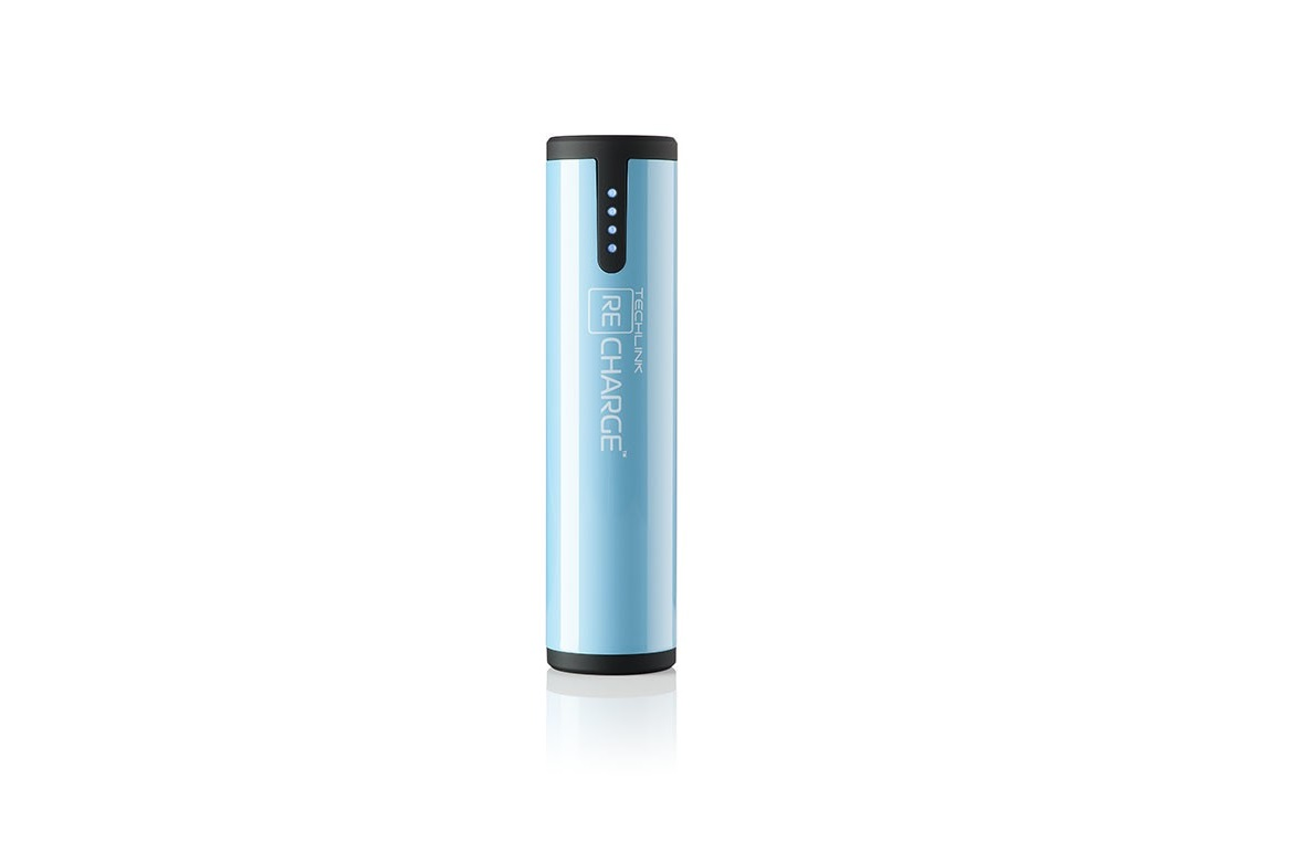 Lot of 39 Techlink 2600mAh Recharge Power Bank Blue 527038
