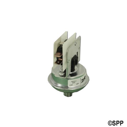 """Pressure Switch, Tecmark, SPDT, 25 Amp, 2-22 Psi, 1/8"""" NPT"""