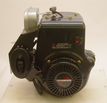 "Tecumseh Engine 10hp Horizontal 4-11/32"" Tapered Shaft  Muffler  LOS  Recoil Start  fits most Devilbiss Generators"
