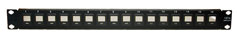 16-Port Blank Patch Panel