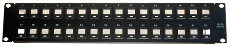 32-Port Blank Patch Panel