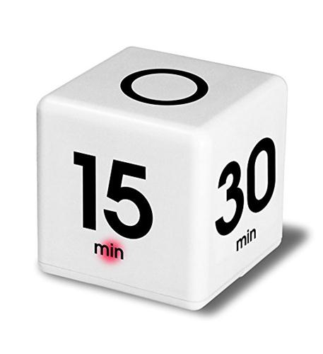 Cube Timer 5-15-30-60 minute WHITE