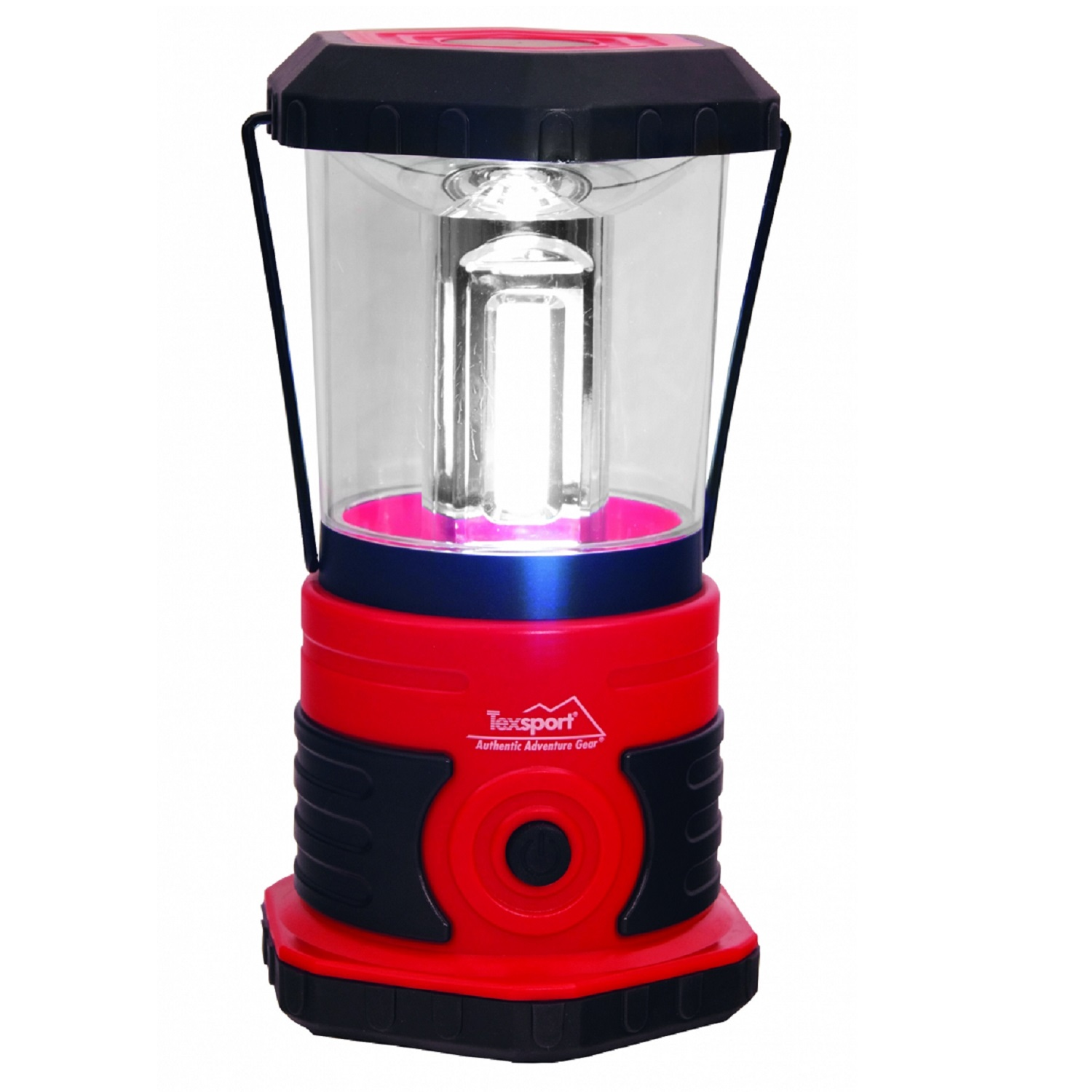 Texsport 600 Lumen LED Camp Lantern - Black/Red