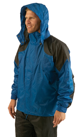 Texsport Amr.Clipper Deluxe Rain Jackets LG Naut. Blue/Black