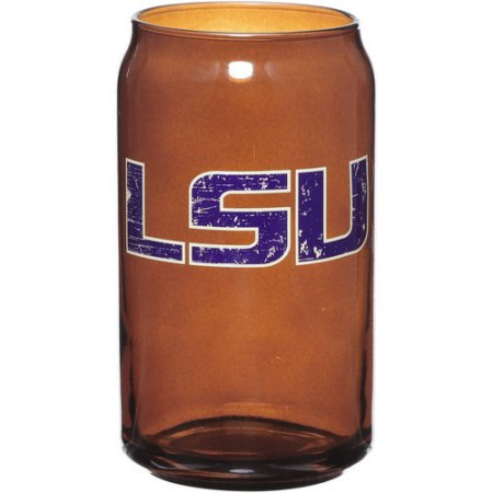 LSU Tigers 16 oz Retro Amber Glass Can