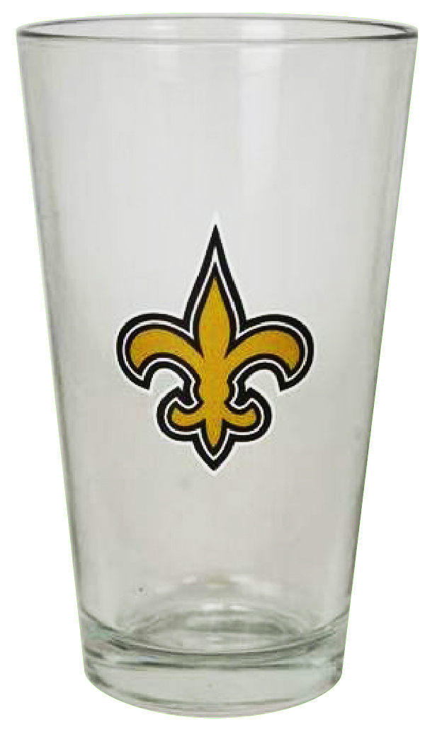 New Orleans Saints 16 oz Glass
