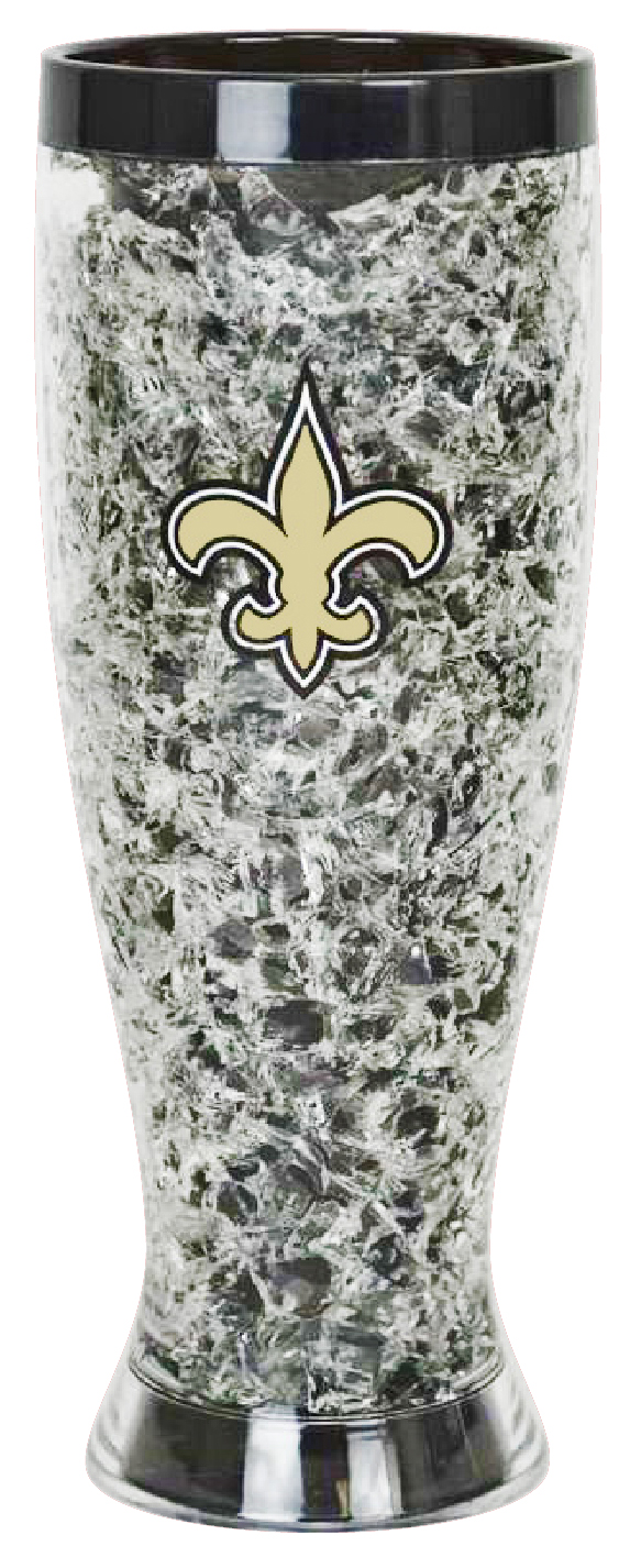 New Orleans Saints 16 oz Colored Freezer Pilsner