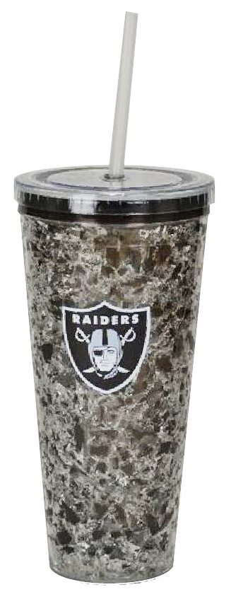 Oakland Raiders Freezer Straw Tumbler