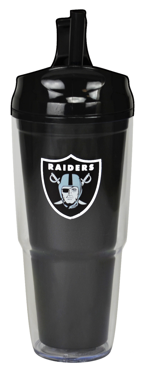 Oakland Raiders Dual Double Wall Travel Tumbler