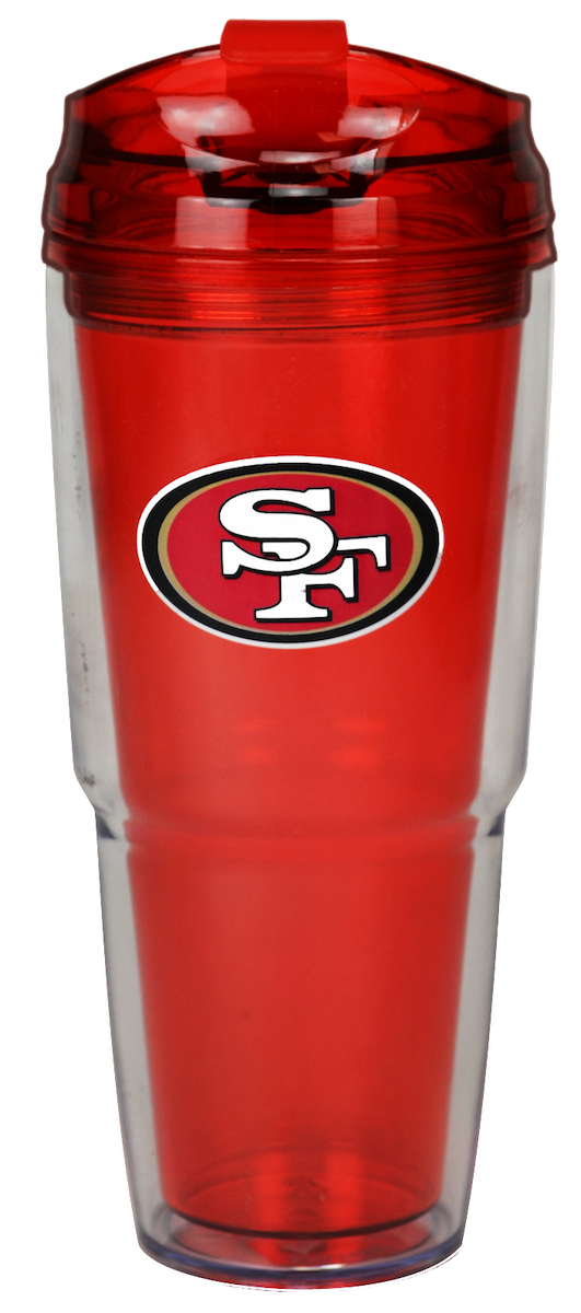 San Francisco 49ers Dual Double Wall Travel Tumbler