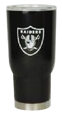 Oakland Raiders 32 oz. Powder Coated Stainless Steel Tumbler