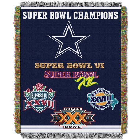 "Cowboys OFFICIAL National Football League, Commemorative 48""x 60"" Woven Tapestry Throw  by The Northwest Company"
