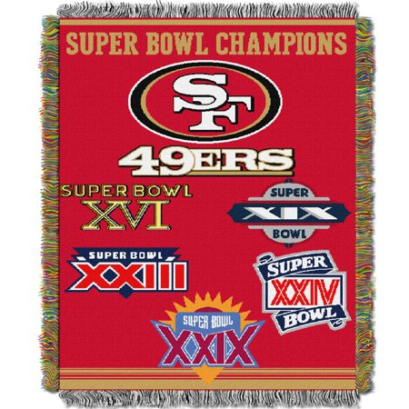 """49ers OFFICIAL National Football League, Commemorative 48""""x 60"""" Woven Tapestry Throw  by The Northwest Company"""