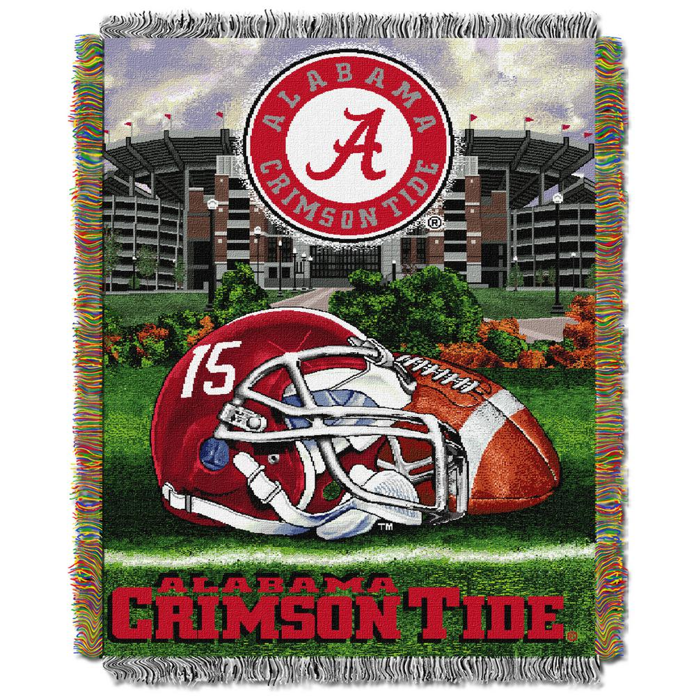 """Alabama OFFICIAL Collegiate """"Home Field Advantage"""" Woven Tapestry Throw"""