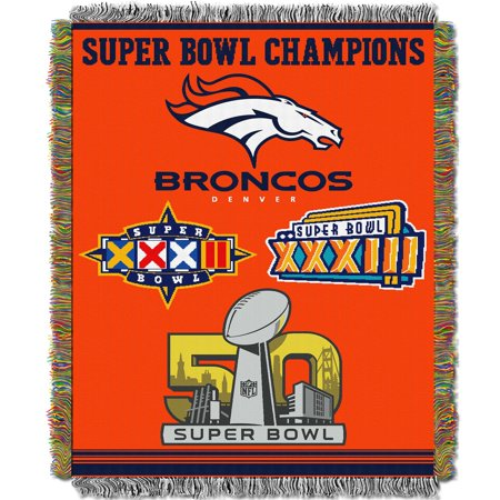 "Broncos OFFICIAL National Football League, Commemorative 48""x 60"" Woven Tapestry Throw  by The Northwest Company"