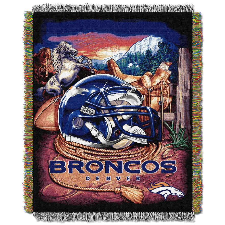 "Broncos OFFICIAL National Football League, ""Home Field Advantage"" 48""x 60"" Woven Tapestry Throw  by The Northwest Company"