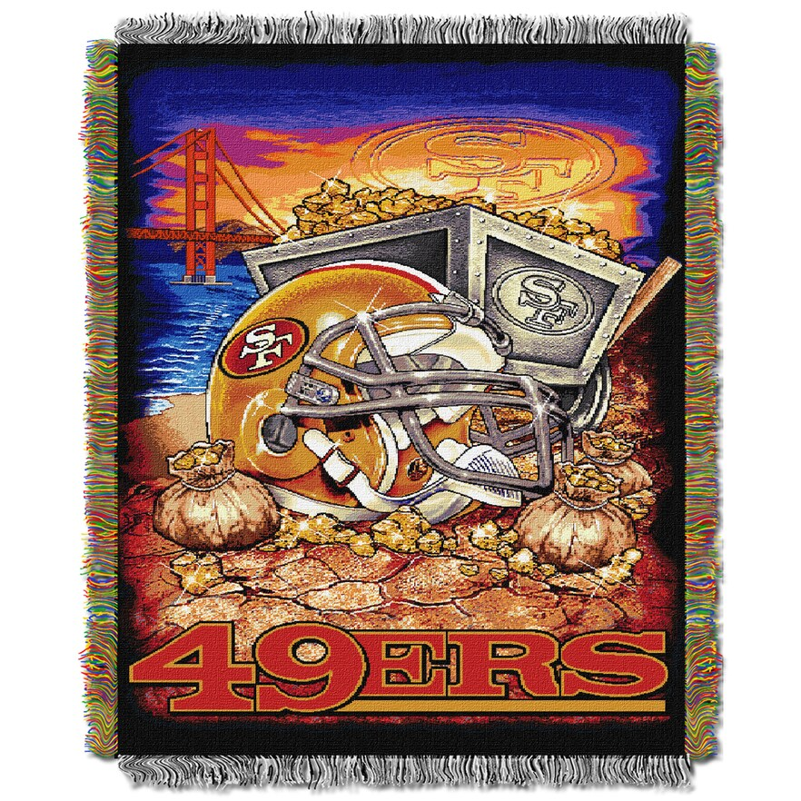 """49ers OFFICIAL National Football League, """"Home Field Advantage"""" 48""""x 60"""" Woven Tapestry Throw  by The Northwest Company"""