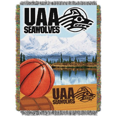 """Alaska Anchorage OFFICIAL Collegiate """"Home Field Advantage"""" Woven Tapestry Throw"""