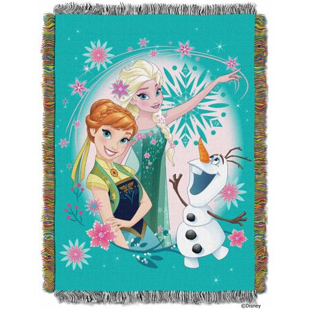 """Disney Frozen Fever Licensed 48""""x 60"""" Woven Tapestry Throw  by The Northwest Company"""