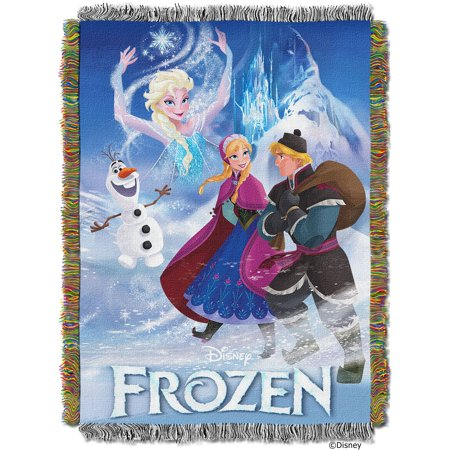 """Disney Frozen Story book Licensed 48""""x 60"""" Woven Tapestry Throw  by The Northwest Company"""