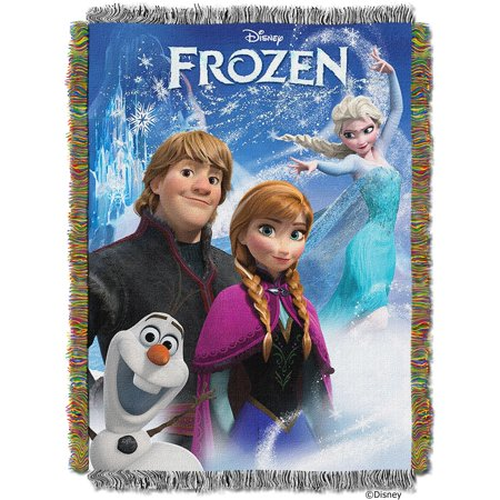 """Disney A Frozen Day Licensed 48""""x 60"""" Woven Tapestry Throw  by The Northwest Company"""