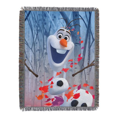 """Disney Frozen 2 - In The Leaves Licensed 48""""x 60"""" Woven Tapestry Throw  by The Northwest Company"""
