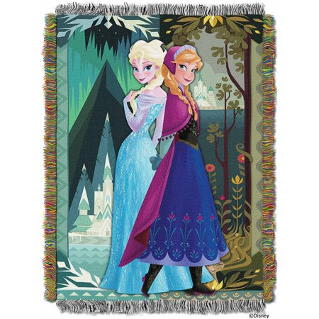 """Disney Frozen Two Worlds One Heart Licensed 48""""x 60"""" Woven Tapestry Throw  by The Northwest Company"""