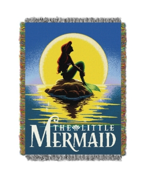 """Ariel Little Mermaid Poster Licensed 48""""x 60"""" Woven Tapestry Throw  by The Northwest Company"""