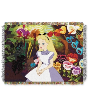 """Alice in the Garden Licensed 48""""x 60"""" Woven Tapestry Throw  by The Northwest Company"""