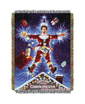 """Christmas Vacation Shocking Chevy Licensed Holiday 48""""x 60"""" Woven Tapestry Throw  by The Northwest Company"""