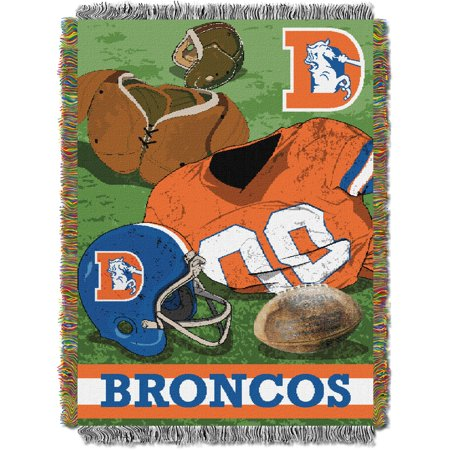 "Broncos OFFICIAL National Football League, ""Vintage"" 48""x 60"" Woven Tapestry Throw  by The Northwest Company"