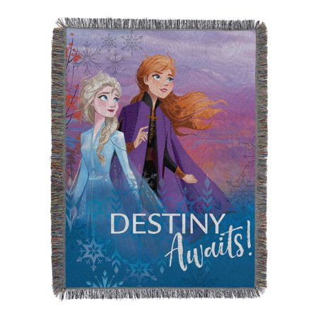 """Disney Frozen 2 -Destiny Awaits  Licensed 48""""x 60"""" Woven Tapestry Throw  by The Northwest Company"""