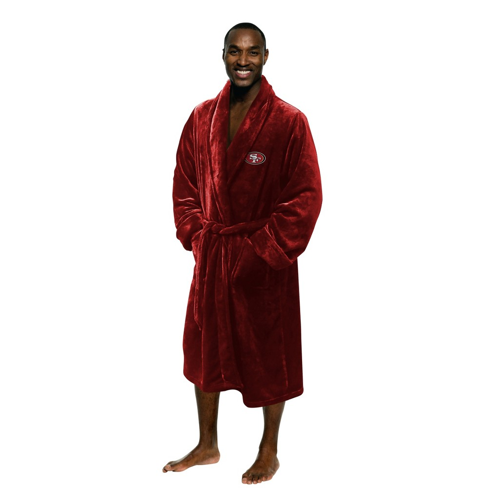 "49ers OFFICIAL National Football League, 26""x 47"" Large/Extra Large Men's Silk Touch Bath Robe  by The Northwest Company"