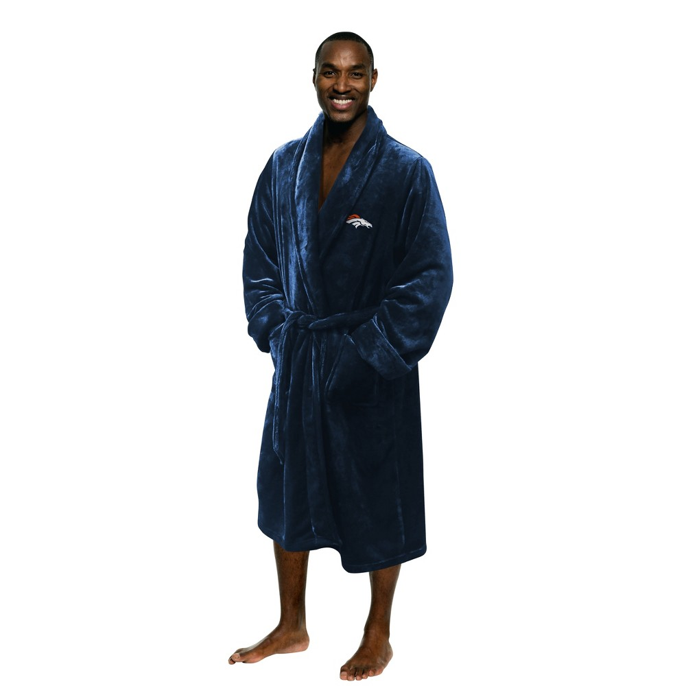 "Broncos OFFICIAL National Football League, 26""x 47"" Large/Extra Large Men's Silk Touch Bath Robe  by The Northwest Company"