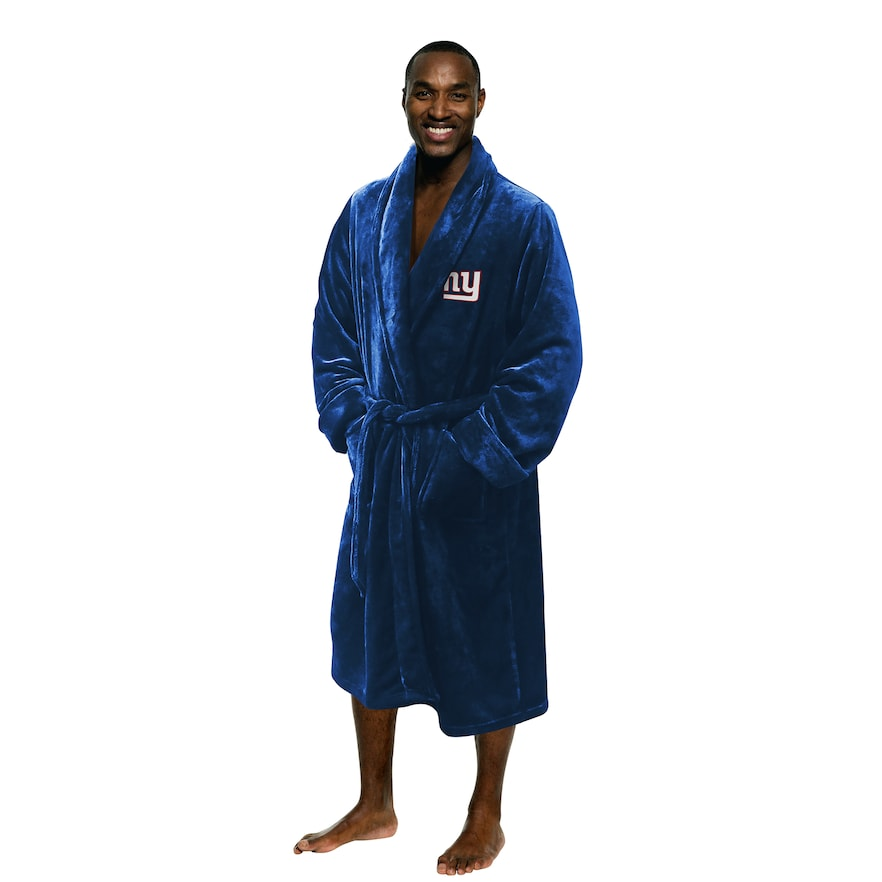 "NY Giants OFFICIAL National Football League, 26""x 47"" Large/Extra Large Men's Silk Touch Bath Robe  by The Northwest Company"