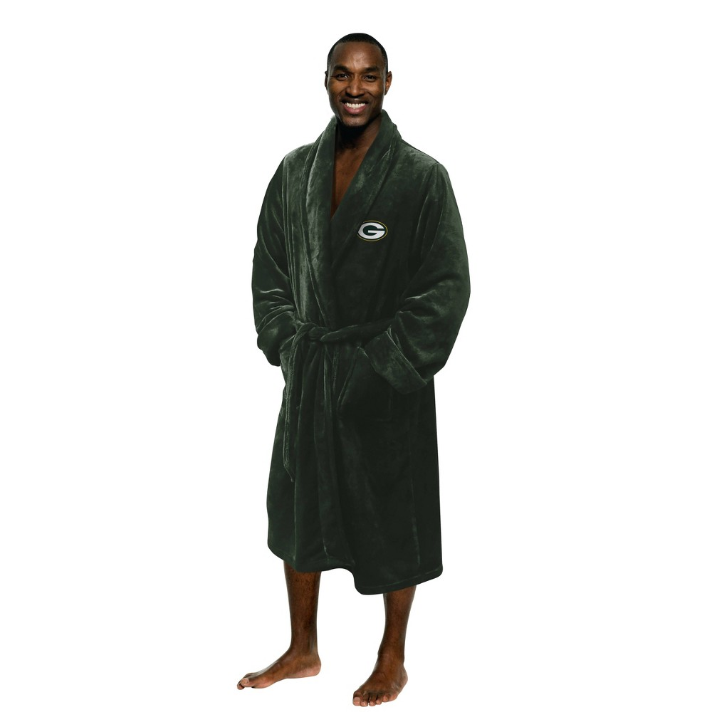 "Packers OFFICIAL National Football League, 26""x 47"" Large/Extra Large Men's Silk Touch Bath Robe  by The Northwest Company"