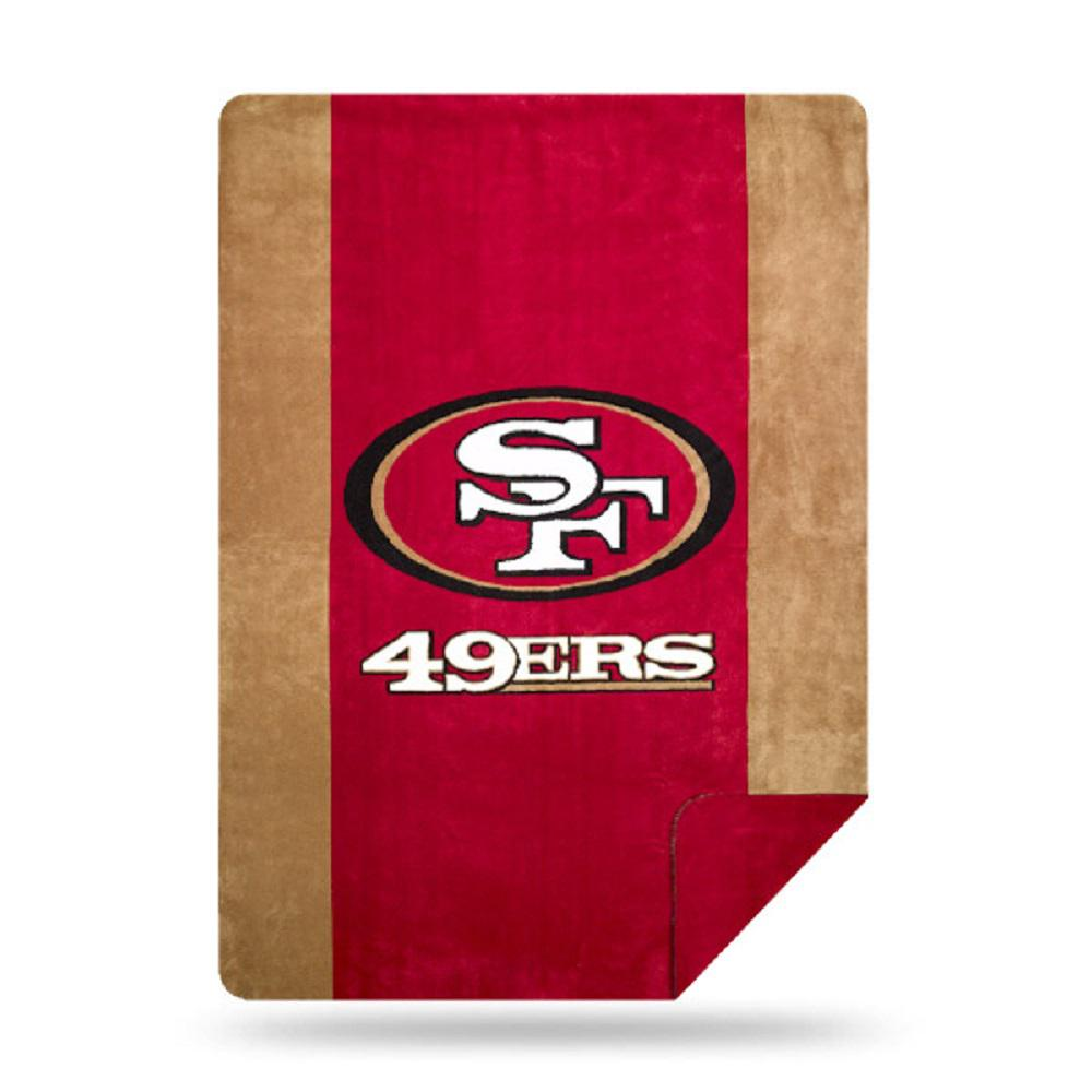 49ers OFFICIAL  Denali Sliver Knit Throw