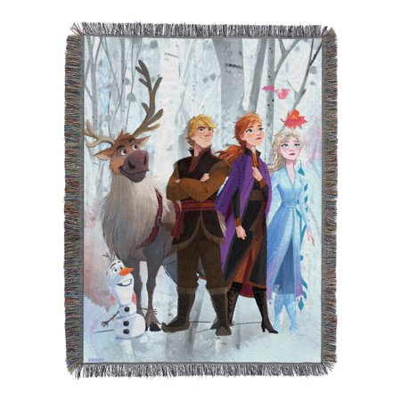 """Disney Frozen 2 -Peering Out Licensed 48""""x 60"""" Woven Tapestry Throw  by The Northwest Company"""