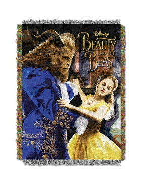 """Disney Beauty and The Beast """"Ballroom Waltz"""" Licensed 48""""x 60"""" Woven Tapestry Throw  by The Northwest Company"""