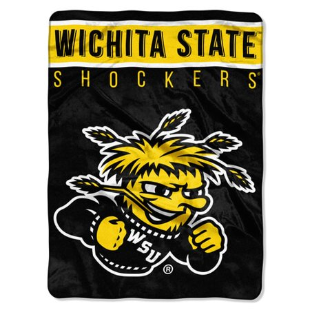 "Wichita State OFFICIAL Collegiate ""Basic"" Raschel Throw"